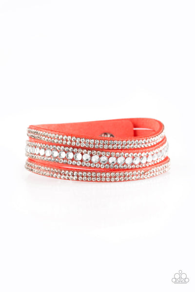 Paparazzi Harlem Hustle - orange bracelet - Princess Glam Shop