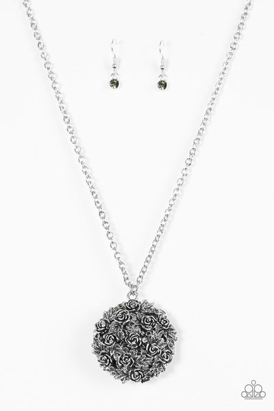 Paparazzi Royal In Roses - Silver Necklace Set - Princess Glam Shop