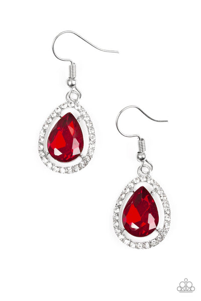 SOLD OUT Paparazzi A One-GLAM Show Earrings Red Earrings - Princess Glam Shop