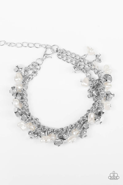 Paparazzi Seaside Social - White Bracelet - Princess Glam Shop