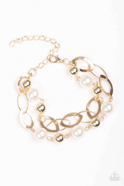 Paparazzi Winner Glimmer - Gold Bracelet - Princess Glam Shop