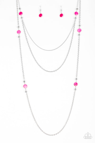 Paparazzi So SHORE Of Yourself - Pink Necklace Set - Princess Glam Shop