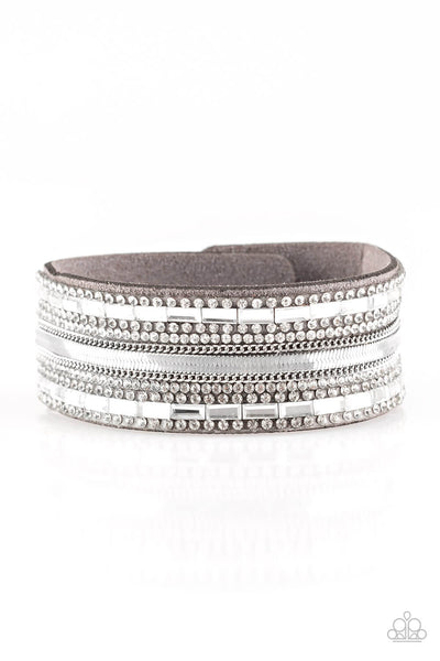 Paparazzi Teasingly Tomboy - Silver Wrap Bracelet - Princess Glam Shop