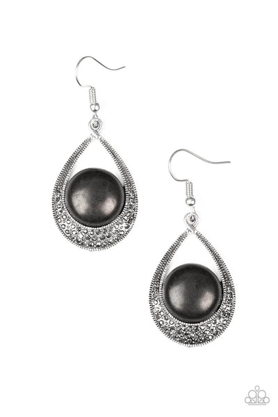 Paparazzi Richly Rio Rancho -Stone & Hematite Teardrop Earrings - PrincessGlamShop