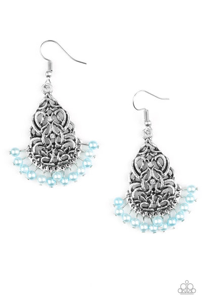 Paparazzi BAROQUE The Bank - Blue Earrings - Princess Glam Shop
