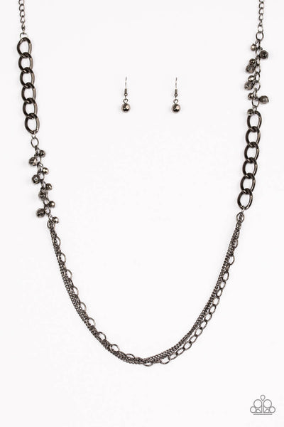 Paparazzi Mega Megacity - Black Long Necklace Set - Princess Glam Shop