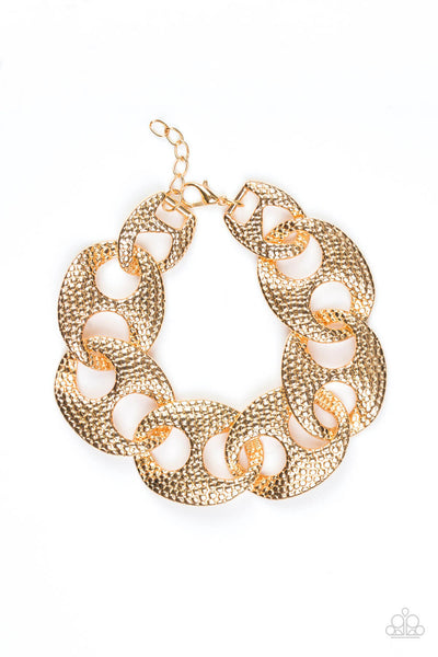 Paparazzi Casual Connoisseur - Gold Link Bracelet - Princess Glam Shop