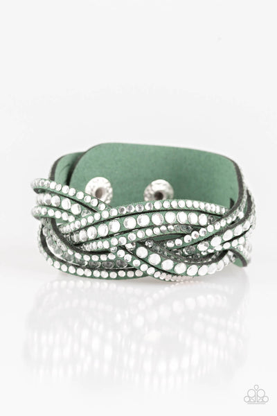 Paparazzi Bring On The Bling - Green Bracelet - Princess Glam Shop
