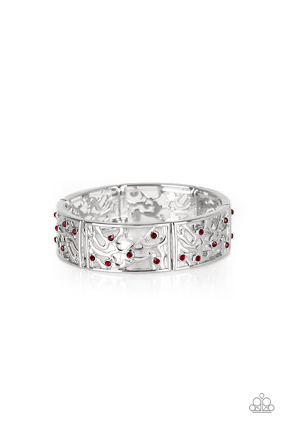 Paparazzi Yours and VINE - Red Bracelet - Princess Glam Shop
