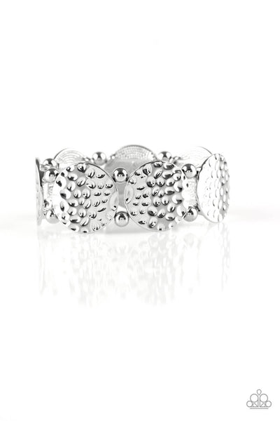 Paparazzi GLISTEN and Learn - Silver Stretchy Bracelet - Princess Glam Shop