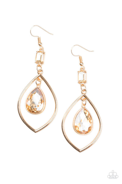 Paparazzi Priceless - Gold Earrings - Princess Glam Shop