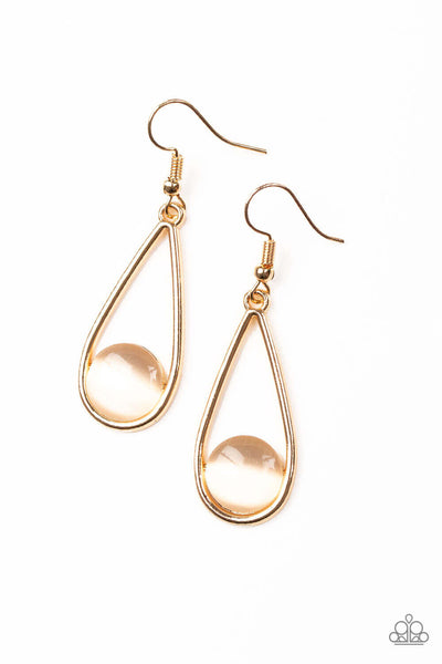paparazzi Over The Moon - Gold Earrings - Princess Glam Shop