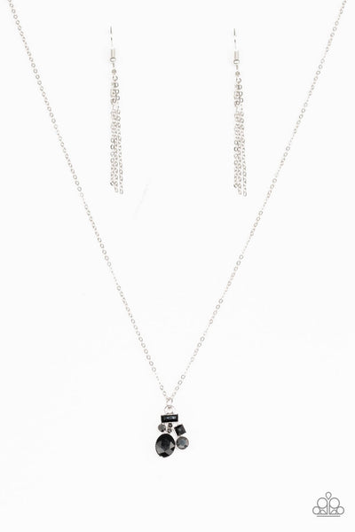 Paparazzi Time To Be Timeless - Black Necklace Set - Princess Glam Shop