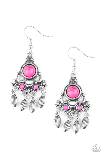 Paparazzi No Place Like HOMESTEAD Earrings - Pink - Princess Glam Shop
