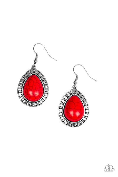 Paparazzi Sahara Serenity Red Earrings - Princess Glam Shop