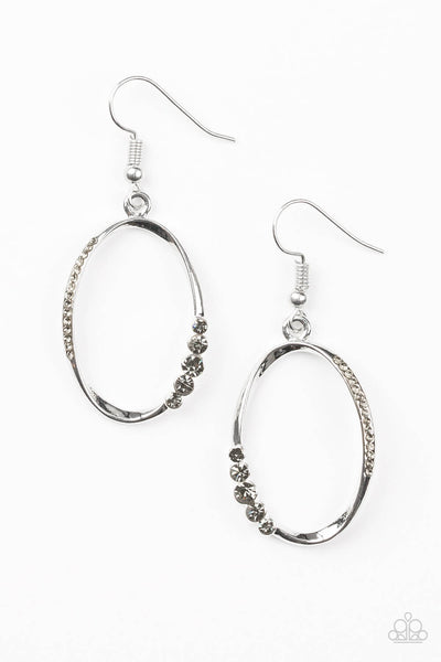 Paparazzi I Would Like To Make A Toast - Silver Gem Earrings - Princess Glam Shop