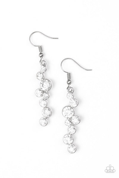 Paparazzi Milky Way Magnificence - White Earrings - PrincessGlamShop