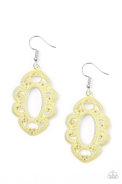 Paparazzi Mantras and Mandalas - Yellow Earrings - Princess Glam Shop