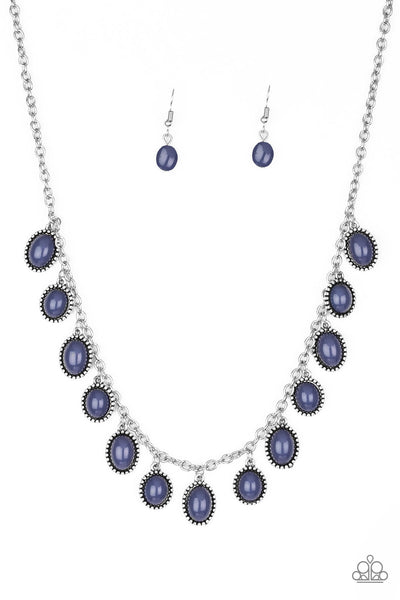 Paparazzi Make Some ROAM! - Blue Necklace Set - Princess Glam Shop