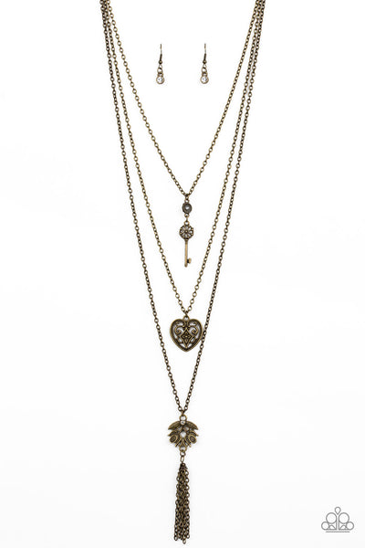 Paparazzi Love Opens All Doors - Brass Necklace Set - Princess Glam Shop