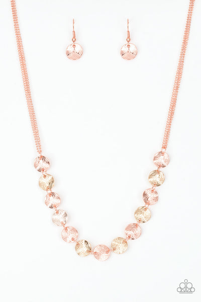 Paparazzi Simple Sheen - Copper Necklace Set - Princess Glam Shop