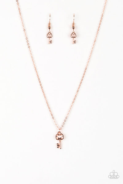 Paparazzi Very Low Key - Copper Necklace Set - Princess Glam Shop
