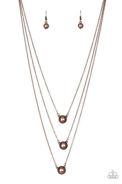 Paparazzi A Love For Luster - Copper Necklace Set - Princess Glam Shop