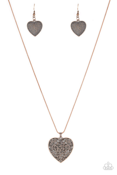 Paparazzi Look Into Your Heart - Copper Necklace Set - Princess Glam Shop