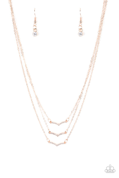 Pretty Petite - Rose Gold Necklace Set - Princess Glam Shop