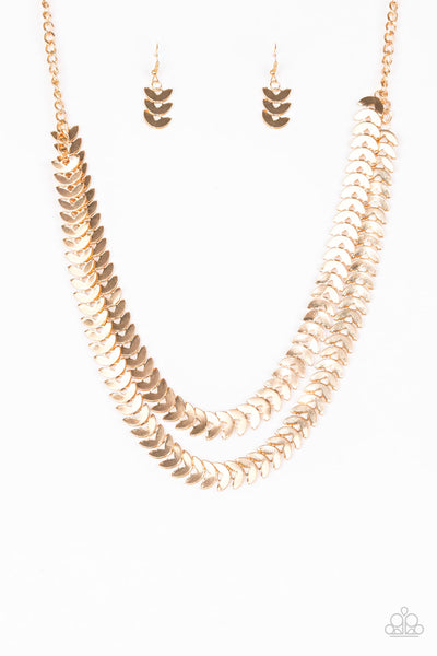 Paparazzi Industrial Illumination - Gold Necklace Set - Princess Glam Shop