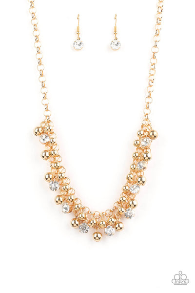 Paparazzi Wall Street Winner - Gold Necklace Set - Princess Glam Shop