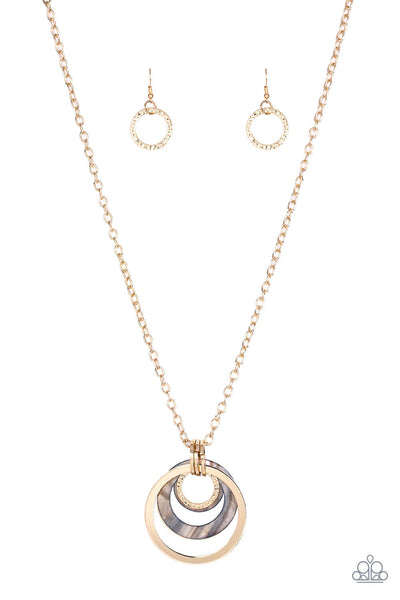 Paparazzi Coast Coasting - Gold Necklace Set - Princess Glam Shop
