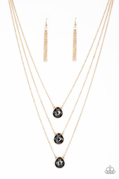 Paparazzi Once In A MILLIONAIRE - Multi Gold & Silver Stone Necklace Set - Princess Glam Shop