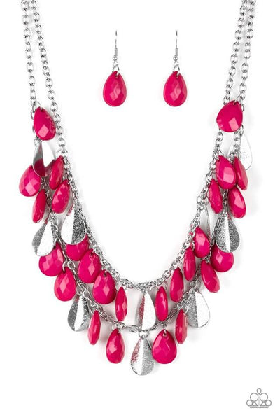 Paparazzi Life Of The FIESTA - Pink Necklace Set - Princess Glam Shop