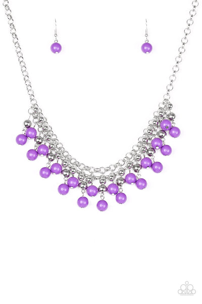 Paparazzi Friday Night Fringe - Purple Necklace Set - Princess Glam Shop