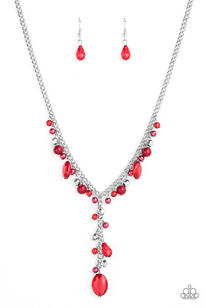 Paparazzi Crystal Couture - Red Necklace Set - Princess Glam Shop