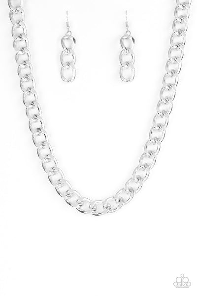 Paparazzi Heavyweight Champion - Silver Necklace Set - Princess Glam Shop
