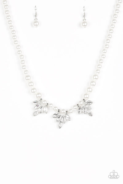 Paparazzi Society Socialite - White Pearl Necklace Set - Princess Glam Shop