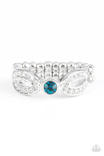 Paparazzi Extra Side Of Elegance - Blue Ring - Princess Glam Shop