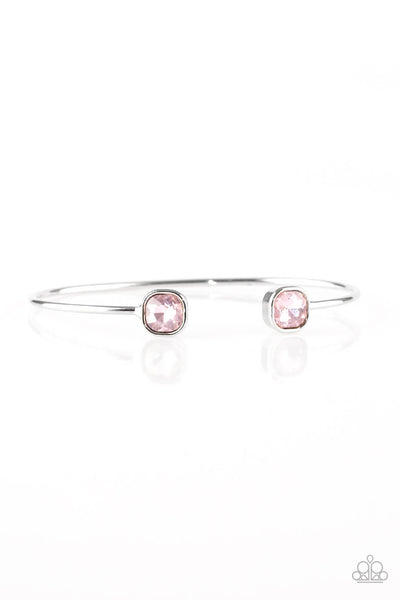 Paparazzi Totally Traditional - Pink Bangle Bracelet - Princess Glam Shop