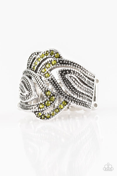 Paparazzi Fire and Ice - Green Ring - Princess Glam Shop