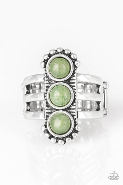 Paparazzi Rio Trio - Green Ring - PrincessGlamShop