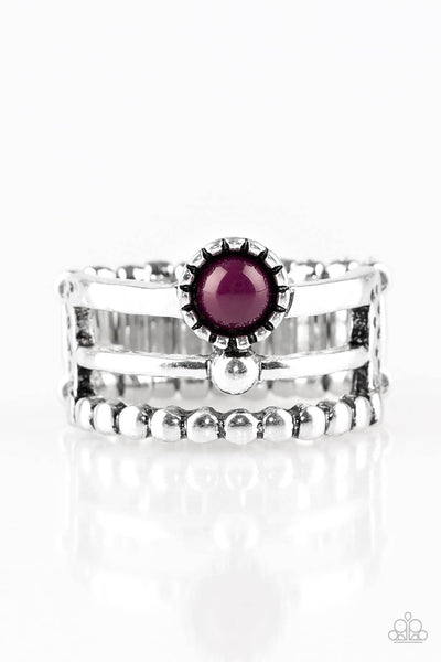 Paparazzi Summer Retreat - Purple Ring - Princess Glam Shop