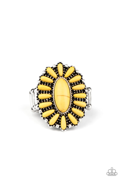 Paparazzi Cactus Cabana - Yellow Ring - Princess Glam Shop