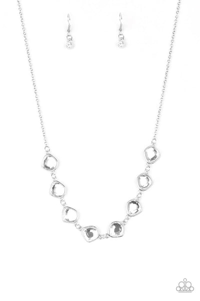 Paparazzi The Imperfectionist - White Gem Necklace Set - Princess Glam Shop