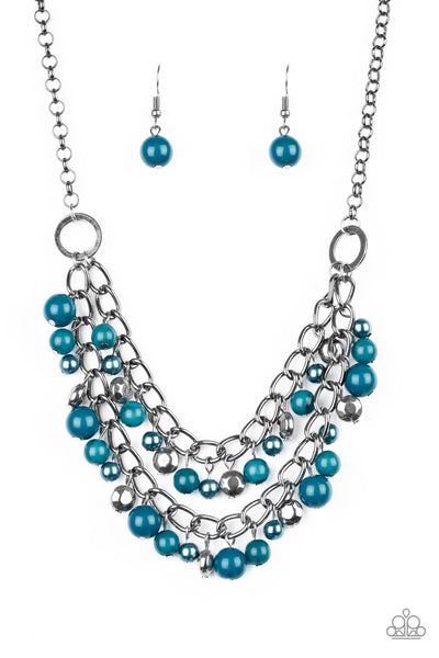 SOLD OUT Paparazzi Watch Me Now Blue Necklace Set - Princess Glam Shop