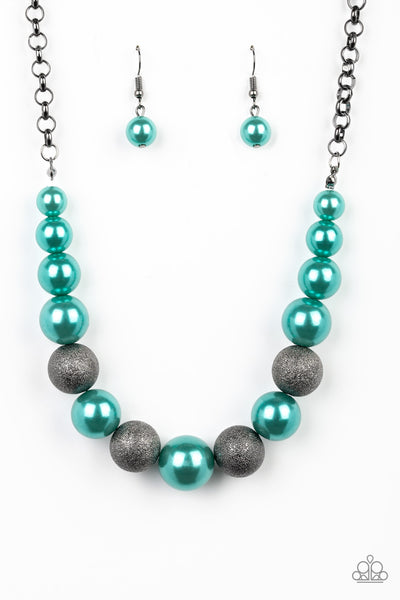Paparazzi Color Me CEO - Green Necklace Set - Princess Glam Shop