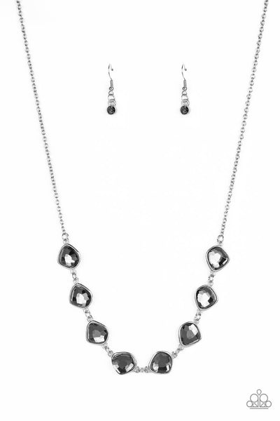 Paparazzi The Imperfectionist - Silver Gem Necklace Set and Bracelet Combo - Princess Glam Shop