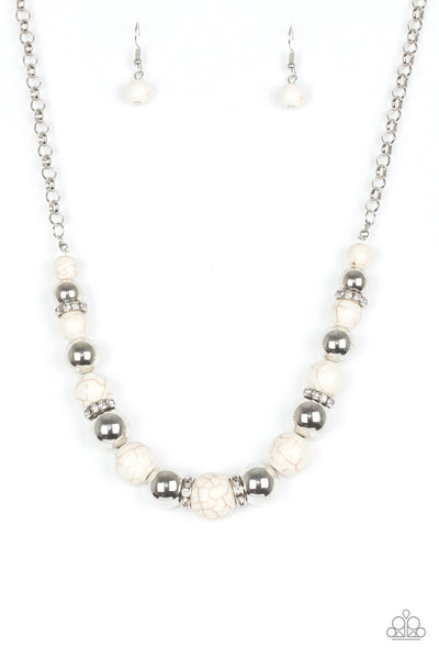 Paparazzi The Ruling Class Crackle Stone Necklace Set - Princess Glam Shop