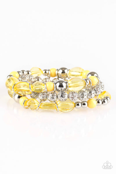 Paparazzi Malibu Marina Yellow Bracelet Set - Princess Glam Shop